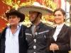 Elenco de la telenovela Fuego en la Sangre en la Hacienda San Agustin de Puebla donde iniciaron grabaciones.